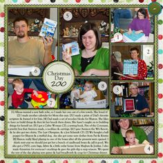 christmas scrapbook layouts | Christmas Scrapbook Pages