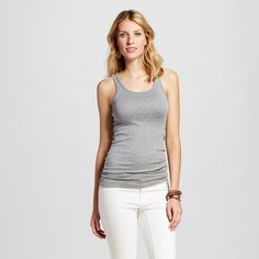 Women's Favorite Racerback Tank Heather Gray Xxl - Merona, Heather Grey