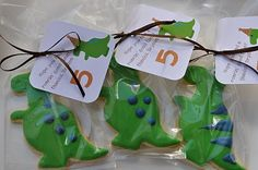 Jenn K's Birthday / Dinosaurs - the dino party, bryson's at Catch My Party Dinosaur Birthday Party, 6th Birthday Parties, Boy Birthday, Birthday Ideas, Happy Birthday, Cookie Party Favors, Party Favours, Dinosaur Cookies, Party Time