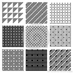Illustration about Seamless textures from monochrome rendered dither patterns. Illustration of square, geometric, monochrome - 27173250 Pixel Animation, Pixel Art Games, Game Room Design, Seamless Textures, Love Wallpaper, Texture Art, Art Tips, Art Techniques, Art Tutorials