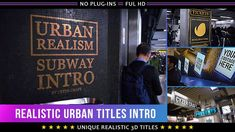 Realistic Urban Titles Intro - Project for After Effects (Videohive) Trailers, Techno, Grunge, Hip Hop, The Scene, Journey, Retro Videos, Music Clips, Travel Vlog