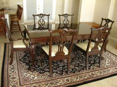 Chippendale Dining Room Extraordinary Karges Model 1061 Walnut And Cherry Chippendale Dining Table Decorating Inspiration