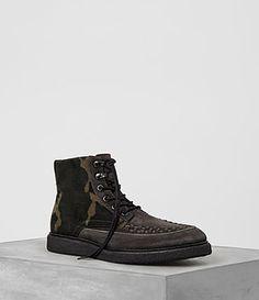ALLSAINTS Otis Camo Boot. #allsaints #shoes #