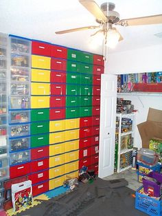 incredibly organized lego room using targetcostco lego colorediris carts office depot xmas coloredones too - Boys Room Lego Ideas