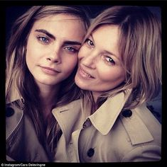 This is the second time the supermodels have worked together, after teaming up for Burberr...