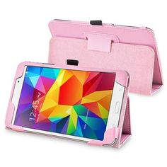 Insten Pink Leather Tablet Case Cover with Stand For Samsung Galaxy Tab 4 7.0 SM-T230 Tab4 7-Inch 7""
