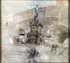"""Giovanni Boldini (Italian, 1842-1931) """"La fontana del Nettuno a Bologna"""" 1910"""