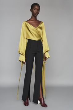 Discover the full Solace London collection of trousers and skirts with brand exclusives online now. Shop jeans, culottes, wide leg trousers, midi skirts and maxi skirts with UK next day or express global shipping. Mode Chic, Nova Dresses, Satin Top, Fashion Outfits, Womens Fashion, Ideias Fashion, Women Wear, Fashion Looks, Street Style