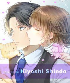 Romantic Anime Couples, Cute Anime Couples, Anime Love, Anime Guys, Sword Art Online Manga, K Project Anime, Anime Stories, Anime Couples Drawings, Anime Neko