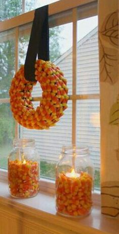 Finally a good use for candy corn! Because let's face it...nobody should eat this crap.