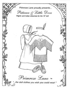 Clothing Patterns for American Girl Dolls - Primrose Lane Doll Dress Patterns, Sewing Patterns Girls, Clothing Patterns, Fashion Patterns, Costume Patterns, Child Doll, Boy Doll, Girl Dolls, Dolls Dolls