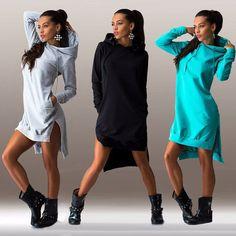 Women's Hooded sweat dress