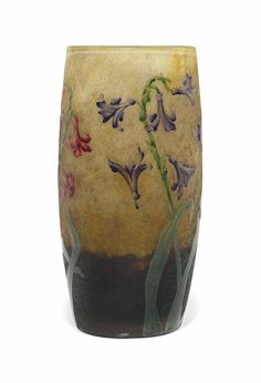 A DAUM CASED AND ENAMELLED GLASS VASE - CIRCA 1895
