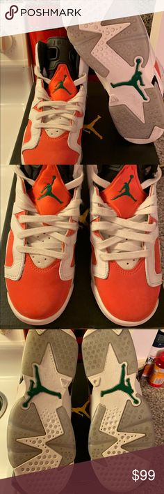 "05539a3a8c34 Air Jordan 6 Retro ""Gatorade"" Size 5.5Y Size 5.5Y or Women s 7"