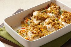 This casserole only takes 15 minutes to put together—but it yields a creamy…