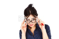 Looking Above Glasses Royalty Free Stock Photo