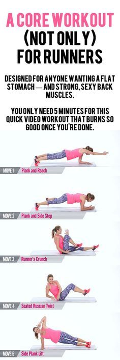 You'll strengthen all the muscles around your abdominals, obliques, and spine, leaving you feeling balanced the next time you're out for a long run...