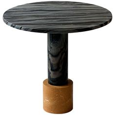 Strata Cocktail Table in Dune Yellow and Molten Black Marble by Raw Material For Sale at 1stdibs
