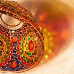 RichanaDragon     BYZANTIUM. Glass bowl candle holder for magic rainbow colors light at night. Salad bowl decorated in the oriental (Byzantine) style with colorful mosaic pattern. Hand painted stained glass.