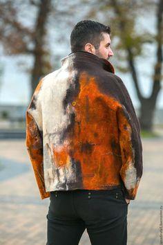 """Верхняя одежда ручной работы. Ярмарка Мастеров - ручная работа. Купить Куртка мужская """" Не скучная"""" , валяние, одежда из войлока. Handmade."""