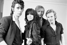 """""""Brass in Pocket"""" was a number one hit for the Pretenders in the but lead singer Chrissie Hynde was not thrilled when their producer said it was going to be a single for the band. Glam Rock, Rock N Roll Music, Rock And Roll, I Love Music, My Music, Music Wall, Hard Rock, Heavy Metal, Dark Wave"""