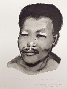 Marlene Dumas, Portrait of a Young Nelson Mandela, 2008