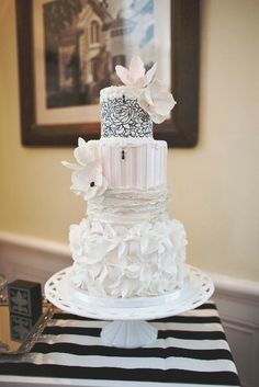 When it comes to wedding cakes, sometimes bigger is better and sometimes less is more. Either way you prefer it, a beautiful wedding cake will have inspiring pops of color, a unique and creative design theme, and the yummiest taste ever! These are the factors that encourage guests to remember your wedding cake (and your big day) for years! Check out some spectacular wedding cake ideas below to get yourself in the cake-loving mood!