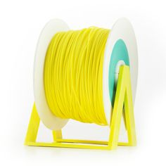 PLA Filament Color Vivid Yellow EUMAKERS | Diameter 1,75mm | New spool is convertible into a coat hanger. Spool holder included | Weight: 1 Kg | www.monzamakers.com #3Dprinting #3Dprint #3Dfilament #3Dfilaments #Eumakers #MonzaMakers