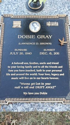 """Dobie Gray - Singer and songwriter, whose musical career spanned soul, country, pop, and musical theater. His hit records included """"The 'In' Crowd"""" in 1965 and """"Drift Away"""", which was one of the biggest hits of 1973, sold over one million copies, and remains a staple of radio airplay."""