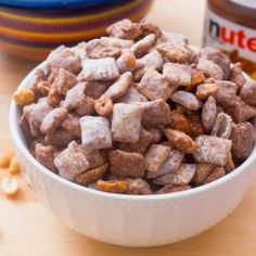 Nutella Puppy Chow by sallysbakeblog ~ I actually tried this recipe with some friends. Delicious!!