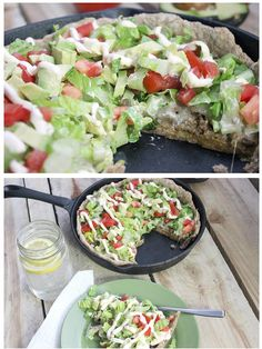 Deep Dish Skinny Taco Pizza - Simple Green Moms