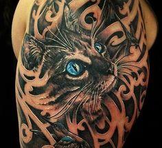 tatuagens gatos - Pesquisa Google