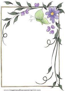Bordes para decorar hojas-Imagenes y dibujos para imprimir