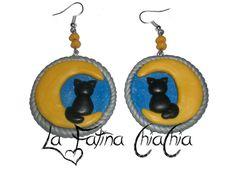 Luna con il Gatto - #Fimo