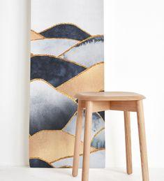 "Run to the blue and golden hills 🔷🔶 . Design ""Hills"" by Elisabeth Fredriksson Golden Hill, Scandinavian Design, Wall Design, Wall Murals, Bar Stools, Blue, Furniture, Instagram, Home Decor"