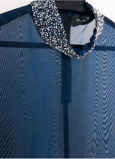 Blue Transparent Top . Cristina Real . fashion design . scar-id.com