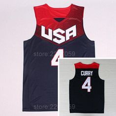fccde9e37797 Men 4 Stephen Curry Jersey Sale 2014 USA Dream Team Eleven Blue White