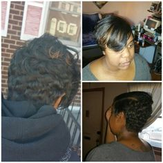 She wanted a new look, some weave added!