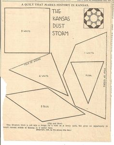 Kansas dust storm quilt