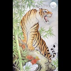 Beautiful and strong tiger in the forest by @chrisgarver #japanesecollective #japaneseculture #tora #tigerpainting #tattoomasters by japanesecollective