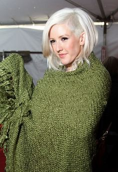 Ellie Goulding.  Wish I could pull off this hairstyle..