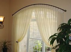 curved curtain rods for arched windows | The Drapery Makery » Draperies