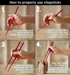 How to use pchop sticks