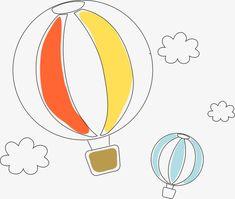 Vector,Cartoon,line,Hand Painted,AI,illustration,lovely,hot air balloon,balloon,fly,flight,sky,Baiyun,Artwork,cartoon vector,hot vector,air vector,balloon vector,cartoon vector,simple vector,hand-drawn vector,artwork vector