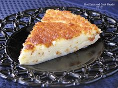 Hot Eats and Cool Reads: Magic Crust Custard Pie Recipe - very good!  It actually took 90 minutes, not 45