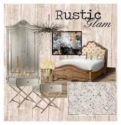 Rustic Glam by cknott on Polyvore featuring interior, interiors, interior design, home, home decor, interior decorating, Oliver Gal Artist Co., Cultural Intrigue, Thro and rustic