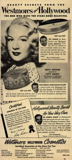 Westmores of Hollywood Betty Hutton 1950