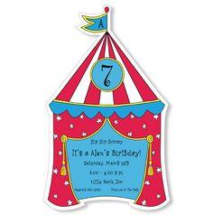 Big Top Time Birthday Invitation  #circusinvitation #kidsbirthdayinvites