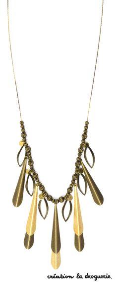 Un collier facile à porter donc on le met tous les jours !! #ladroguerie #collier