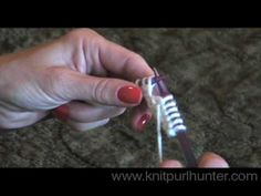 Purl stitch - love this website! So many 'how-to' videos that have made knitting easier to pick up.